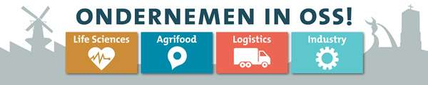 billboard 'Ondernemen in Oss: ': Life Sciences, Agrifood, Logistics, Industry